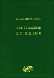 Cover of: Art et sagesse en Chine