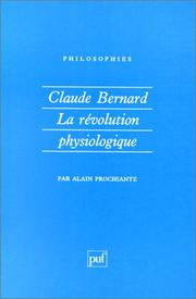 Cover of: Claude Bernard