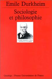 Cover of: Sociologie et philosophie