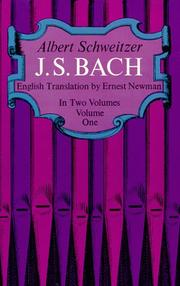 Cover of: J. S. Bach (Vol 1)