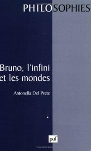 Cover of: Bruno, l'infini et les mondes