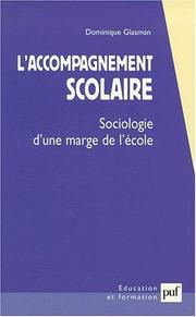 Cover of: L'accompagnement scolaire