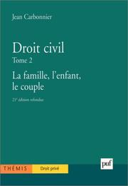 Cover of: Droit civil, tome 2