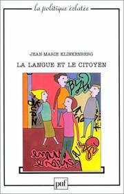 Cover of: La Langue et le Citoyen