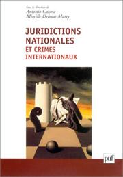 Cover of: Juridictions nationales et crimes internationaux