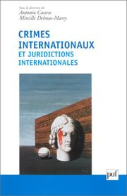 Cover of: Crimes internationaux et juridictions internationales