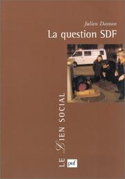 Cover of: La Question SDF