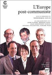 Cover of: L'Europe post-communiste