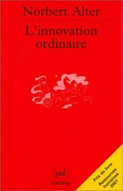 Cover of: L'innovation ordinaire