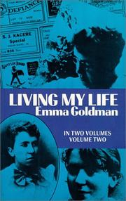 Cover of: Living My Life | Emma Goldman