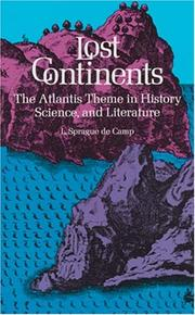 Lost continents by L. Sprague De Camp