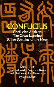 Cover of: Confucian analects