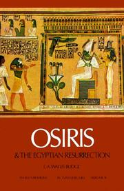 Cover of: Osiris and the Egyptian resurrection