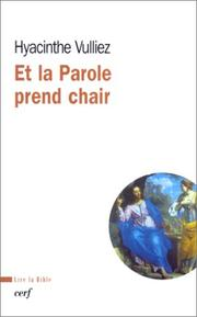 Cover of: Et la parole prend chair
