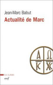 Cover of: Actualité de Marc