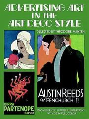 Cover of: Advertising art in the Art Deco style | selected by Theodore Menten.