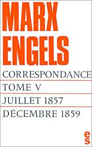 Cover of: Correspondance, tome 5