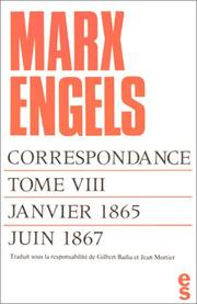Cover of: Correspondance, tome 8: Janvier 1865 - juin 1867