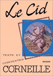Cover of: Le Cid | Pierre Corneille, Georges Forestier