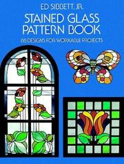 Cover of: Stained glass pattern book | Ed Sibbett