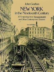 Cover of: New York in the nineteenth century