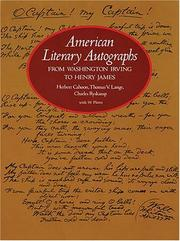 Cover of: American literary autographs, from Washington Irving to Henry James