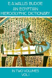 Cover of: An Egyptian hieroglyphic dictionary: with an index of English words, king list, and geographical list with indexes, list of hieroglyphic characters, Coptic and Semitic alphabets, etc.