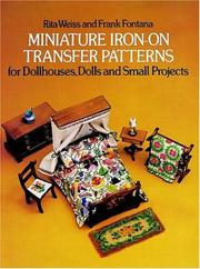 Cover of: Miniature iron-on transfer patterns for dollhouses, dolls and small projects