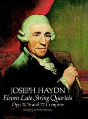 Cover of: Eleven Late String Quartets, Opp. 74, 76 and 77, Complete