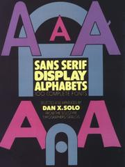 Cover of: Sans-Serif Display Alphabets