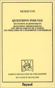 Cover of: Questions inouyes
