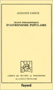 Cover of: Traité philosophique d'astronomie populaire
