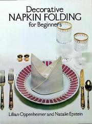 Cover of: Decorative napkin folding for beginners