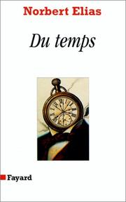 Cover of: Du temps