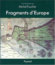 Cover of: Fragments d'Europe. Atlas de l'Europe médiane et orientale