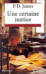 Cover of: Une Certaine Justice