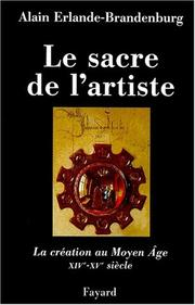 Cover of: Le Sacre de l'artiste