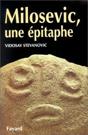 Cover of: Milosevic, une épitaphe