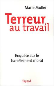 Cover of: Terreur au travail