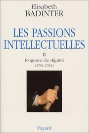 Cover of: Les Passions intellectuelles, tome 2