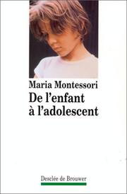 Cover of: De l'enfant à l'adolescent