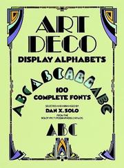 Cover of: Art deco display alphabets