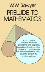 Cover of: Prelude to mathematics