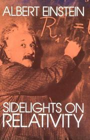 Cover of: Sidelights on relativity