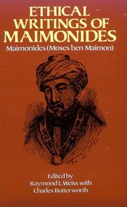 Cover of: Ethical writings of Maimonides | Moses Maimonides