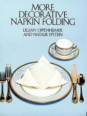 Cover of: More decorative napkin folding