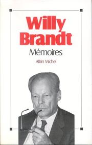 Mémoires by Willy Brandt