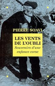 Cover of: Les vents de l'oubli