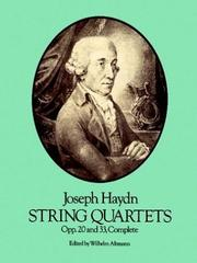 Cover of: String Quartets, Opp. 20 and 33, Complete