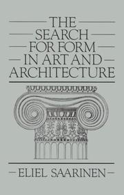 Cover of: The search for form in art and architecture